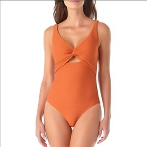 New Anne Cole Twist Front One Piece Swimsuit